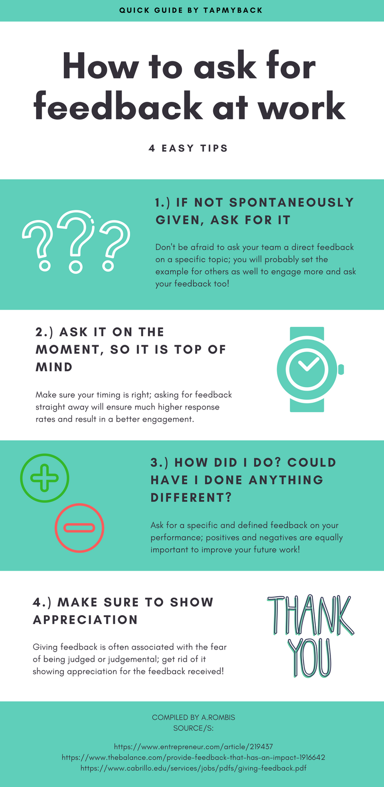 How to ask for feedback at work - 4 steps - Tap My Back